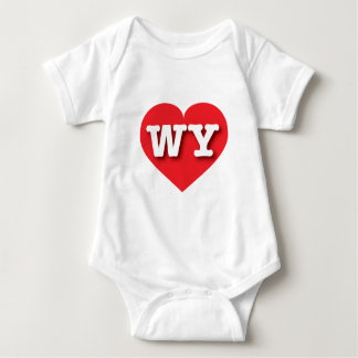 Wyoming röd hjärta - stor kärlek tee shirt