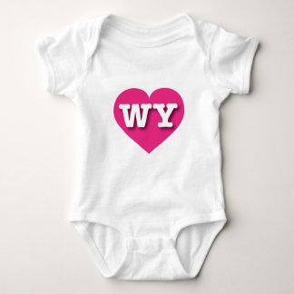 Wyoming shock rosahjärta - stor kärlek tee shirt