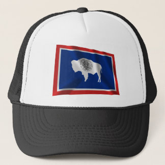Wyoming som vinkar flagga keps