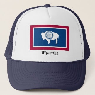 Wyoming statlig flagga truckerkeps