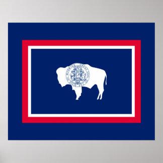Wyoming statlig flaggadesign poster