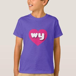 Wyoming wy shock rosahjärta t-shirt