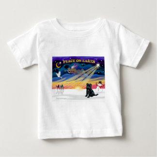 XmasSunrise-BrusselsGriffon-svart T Shirts
