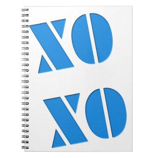XO XO ANTECKNINGSBOK MED SPIRAL