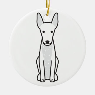 Xoloitzcuintli hundtecknad julgransprydnad keramik