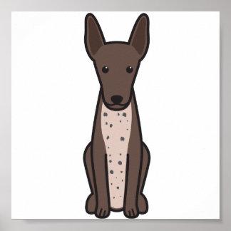 Xoloitzcuintli hundtecknad poster