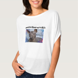 Xoloitzcuintli kvinna skjorta t-shirt