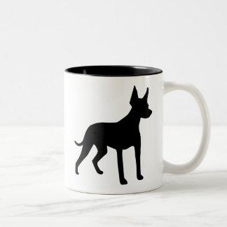 Xoloitzcuintli (mexicansk hårlös hund) utrustar Två-Tonad mugg