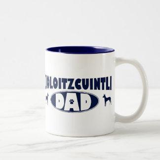 Xoloitzcuintli pappa Två-Tonad mugg
