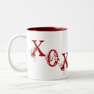 XOX-hjärta (mugg) Två-Tonad Mugg