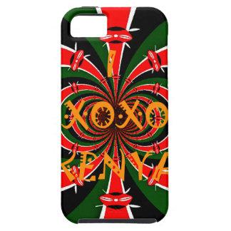 XOXO älskar jag Kenya den svart röda gröna iPhone 5 Fodral