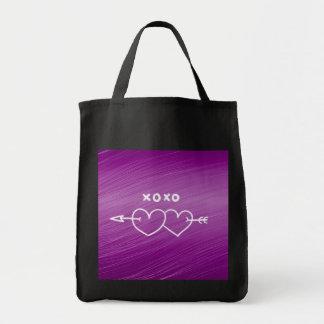 XOXO hjärtor, lilor (I) Tygkasse