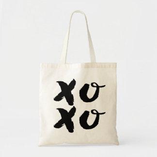 XOXO-kramar & kyssar som | borstar typografitoto, Tygkasse