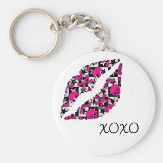 XOXO-kyss Rund Nyckelring