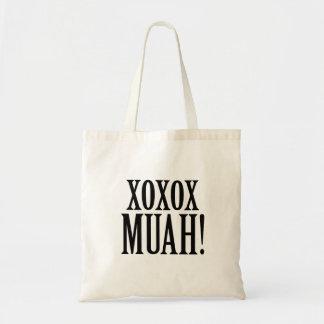 XOXO MUAH! totot för brudtärnabrudbröllopsdag Tygkasse