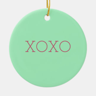 XOXO-prydnad Julgransprydnad Keramik