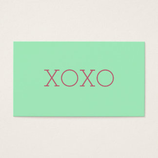 XOXO-visitkortar Visitkort