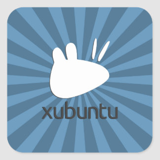 Xubuntu krickastarburst fyrkantigt klistermärke