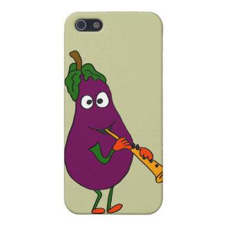 XX- aubergine som leker klarinetttecknaden iPhone 5 Skal