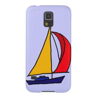 XX- färgrik segelbåtkonst Galaxy S5 Fodral