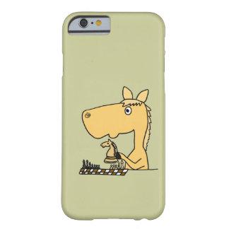 XX- häst som leker schacktecknaden Barely There iPhone 6 Fodral