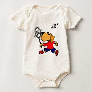XX- Labrador Retriever som leker Badminton Body För Baby