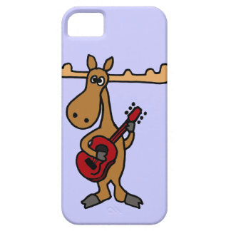 XX- rolig älg som leker gitarrtecknaden Barely There iPhone 5 Fodral