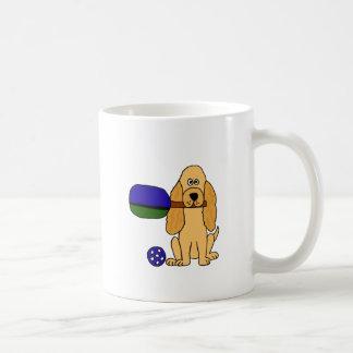 XX- tecknad för Pickleball cockerspanielSpaniel Kaffemugg