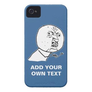 y u ingen rofl för lol för ursinneansikte komisk iPhone 4 fodraler