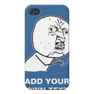 y u ingen rofl för lol för ursinneansikte komisk iPhone 4 hud