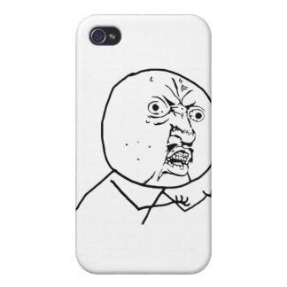 Y U inget komiskt ansikte för grabb iPhone 4 Fodral