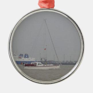 Yacht Yara Julgransprydnad Metall