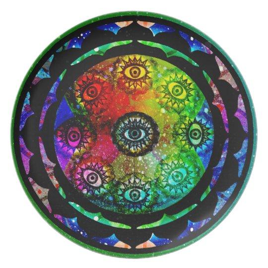Yantra Eyes Mandala Tallrik
