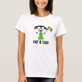 Yay 4 bögT-tröja Tee Shirts