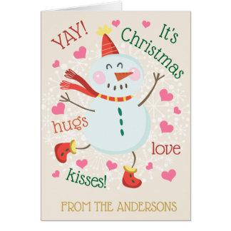 YAY dess julfotoinsida Hälsningskort