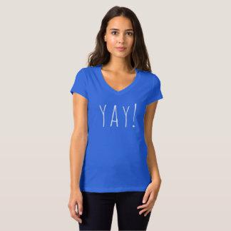 """YAY! ""Kvinna Bella+KanfasJersey V-Nacke T-tröja Tröjor"