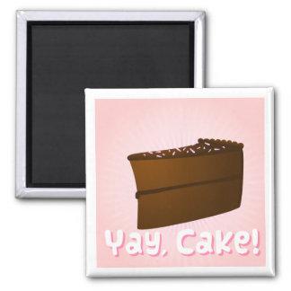 Yay tårta! kylskåpmagneter