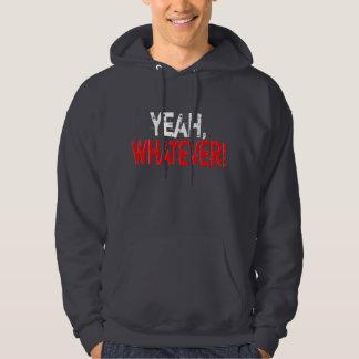 Yeah spelar ingen roll - mörk sweatshirt med luva