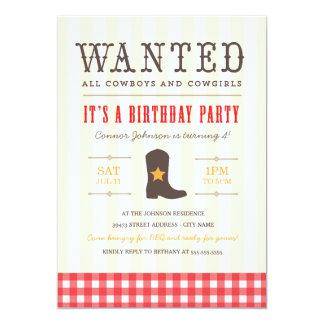 Yeehaw! Cowboyfödelsedagsfest inbjudan