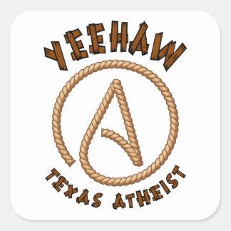 Yeehaw! Fyrkantigt Klistermärke