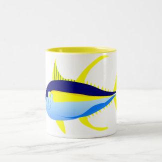 Yellowfintonfisk Två-Tonad Mugg