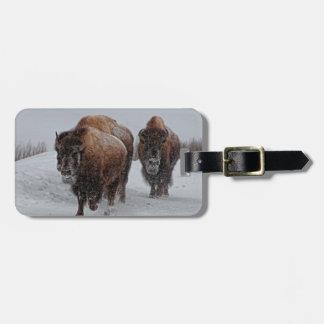 Yellowstone Bison Bagagebricka