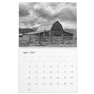 Yellowstone, den storslagna Tetonsen och Idaho Kalender