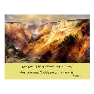 yellowstone landskap vykort