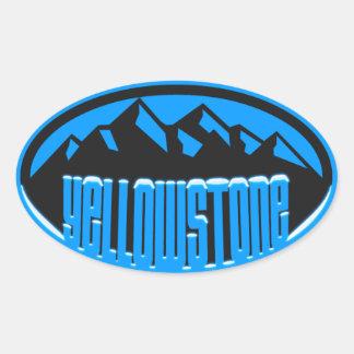 Yellowstone nationalpark ovalt klistermärke