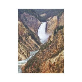 Yellowstone nedgångar canvastryck