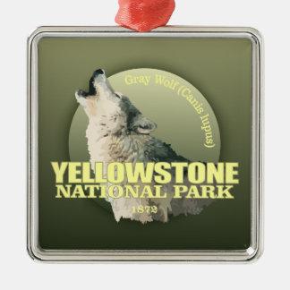 Yellowstone NP (grå varg) VIKT Julgransprydnad Metall