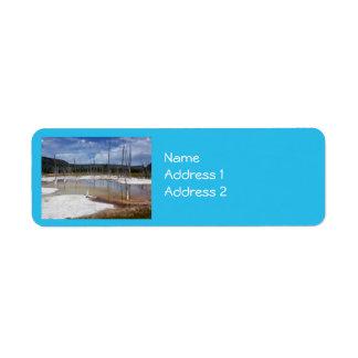 Yellowstone: Opalescent bassäng Returadress Etikett