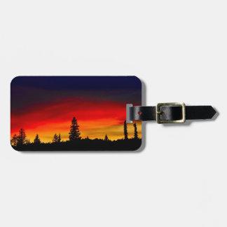 Yellowstone solnedgång bagagebricka