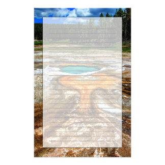 Yellowstone termisk bassäng brevpapper
